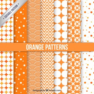 Orange Patterns Collection Free Vector