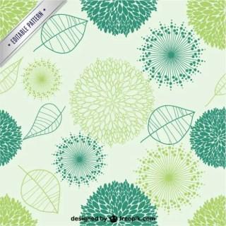 Organic Seamless Pattern Free Vector