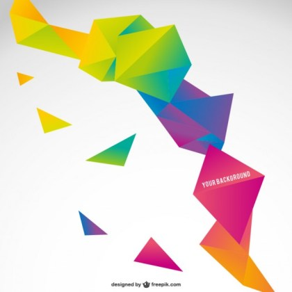 Origami Colorful Abstract Template Free Vector