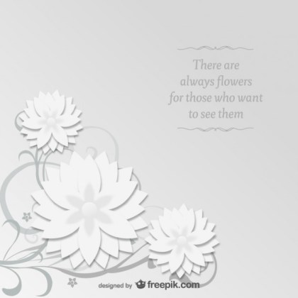 Origami Floral Free Graphic Free Vector
