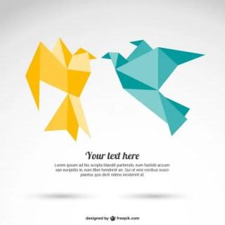 Origami Paper Birds Free Vector