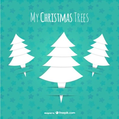 Origami Style Christmas Tree Free Vector