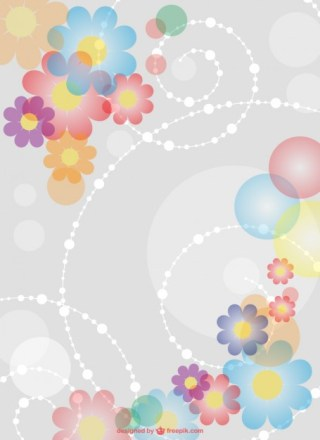 Ornamental Floral Background Free Vector