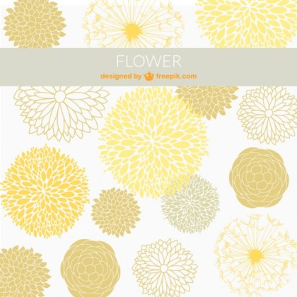 Ornamental Flowers Background Free Vector