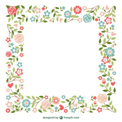 Ornamental Frames Flowers Design Free Vector