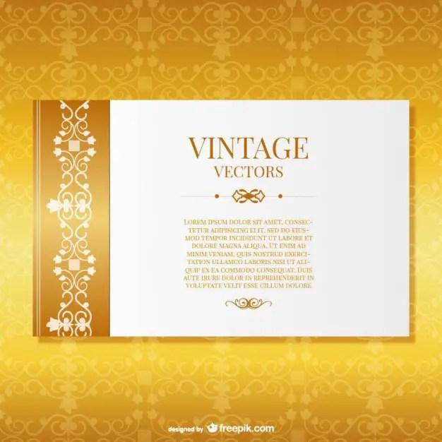 Ornate Elegant Card Template Free Vector