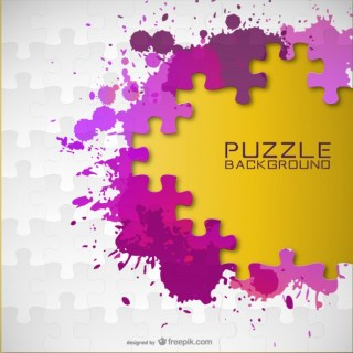 Paint Splash Puzzle Background Free Vector