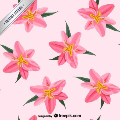 Painted Flowers Pattern Free Vector