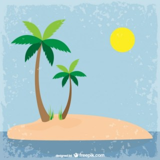 Palm Trees Illustration Free Vector