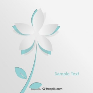 Paper Flower Illustration Free Vector