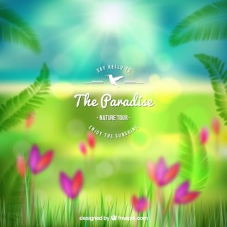 Paradise Poster Free Vector
