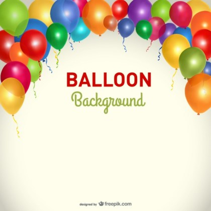Party Background Balloons Template Free Vector