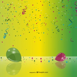 Party Confetti and Balloons Free Vector