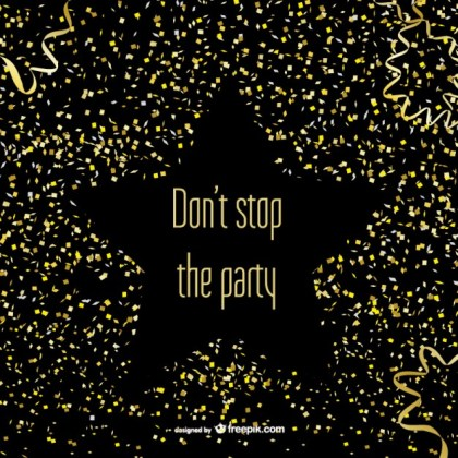 Party Confetti and Star Free Vector