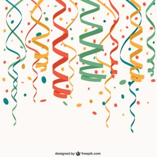 Party Confetti Free Vector