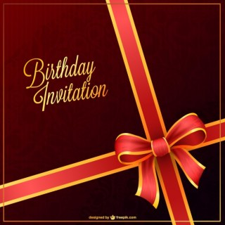 Party Invitation for Birthday Free Vector