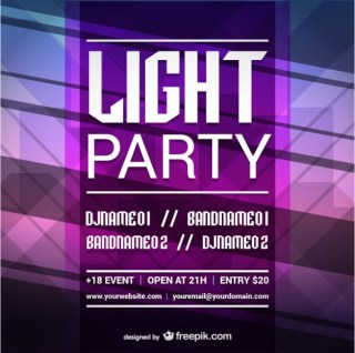 Party Mock-Up Design Free Vector
