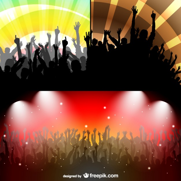 Party People Strobe Lights Set Free Vector