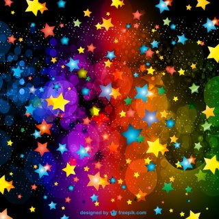 Party Stars Decorations Background Free Vector