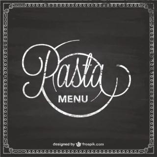 Pasta Menu Chalckboard Template Free Vector