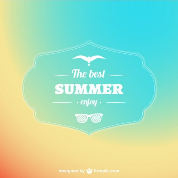 Pastel Abstract Summer Background Free Vector