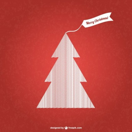 Patterned Christmas Tree Free Vector