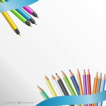 Pencils Background Free Vector