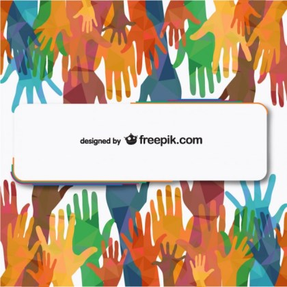 People Hands Reaching Free Illustration Free Vector