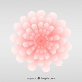 Pink Abstract Flower Free Vector