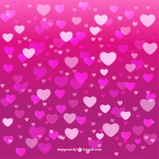 Pink Background of Hearts Free Vector