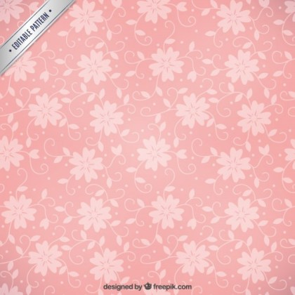 Pink Floral Pattern Free Vector