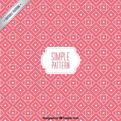 Pink Pattern in Geometric Design Free Vector