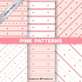 Pink Patterns Collection Free Vector