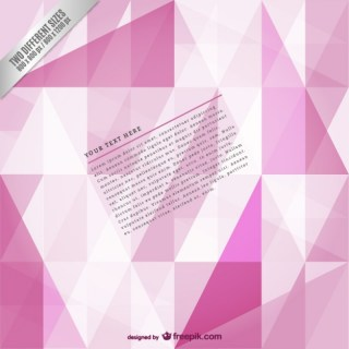 Pink Polygonal Background Template Free Vector