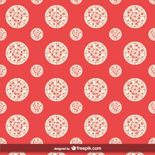 Pizza Seamless Pattern Free Vector