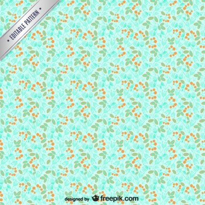 Plant Seamless Pattern Free Vector