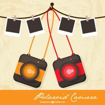 Polaroid Camera Retro Free Vector