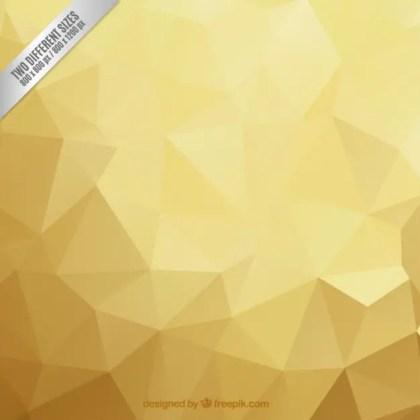 Polygonal Golden Background Free Vector Illustration