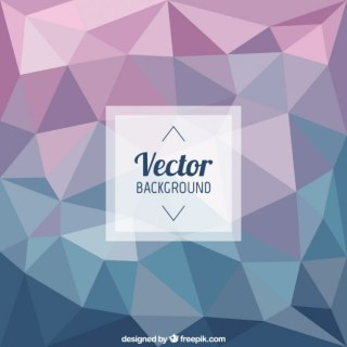 Polygonal Background in Blue and Purple Tones Free Vector