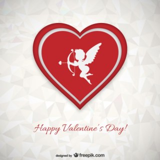 Polygonal Valentine's Card Free Vector