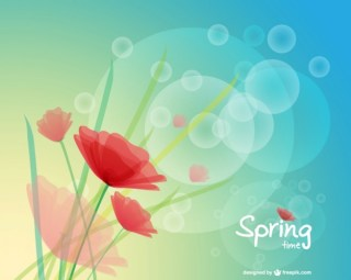 Poppy Spring Background Free Vector