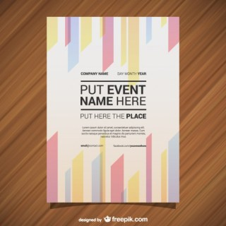 Poster Template Geometric Abstract Lines Free Vector