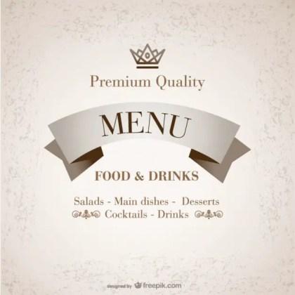 Premium Free Restaurant Menu Free Vector