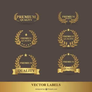 Premium Laurel Golden Graphics Free Vector