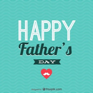 Printable Father's Day Card Free Vector