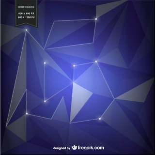 Purple Background with Geometrical Shapes Free Vector