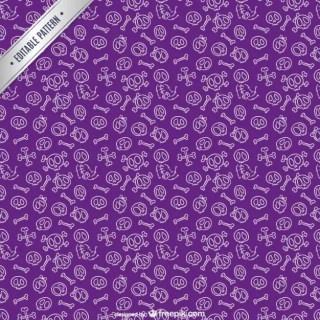 Purple Halloween Pattern Free Vector