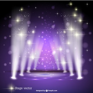 Purple Spotlight Stage Free Vector