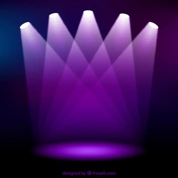 Purple Spotlights Free Vector