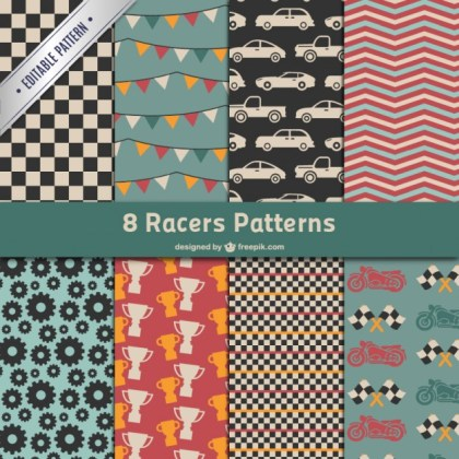 Race Patterns Pack Free Vector